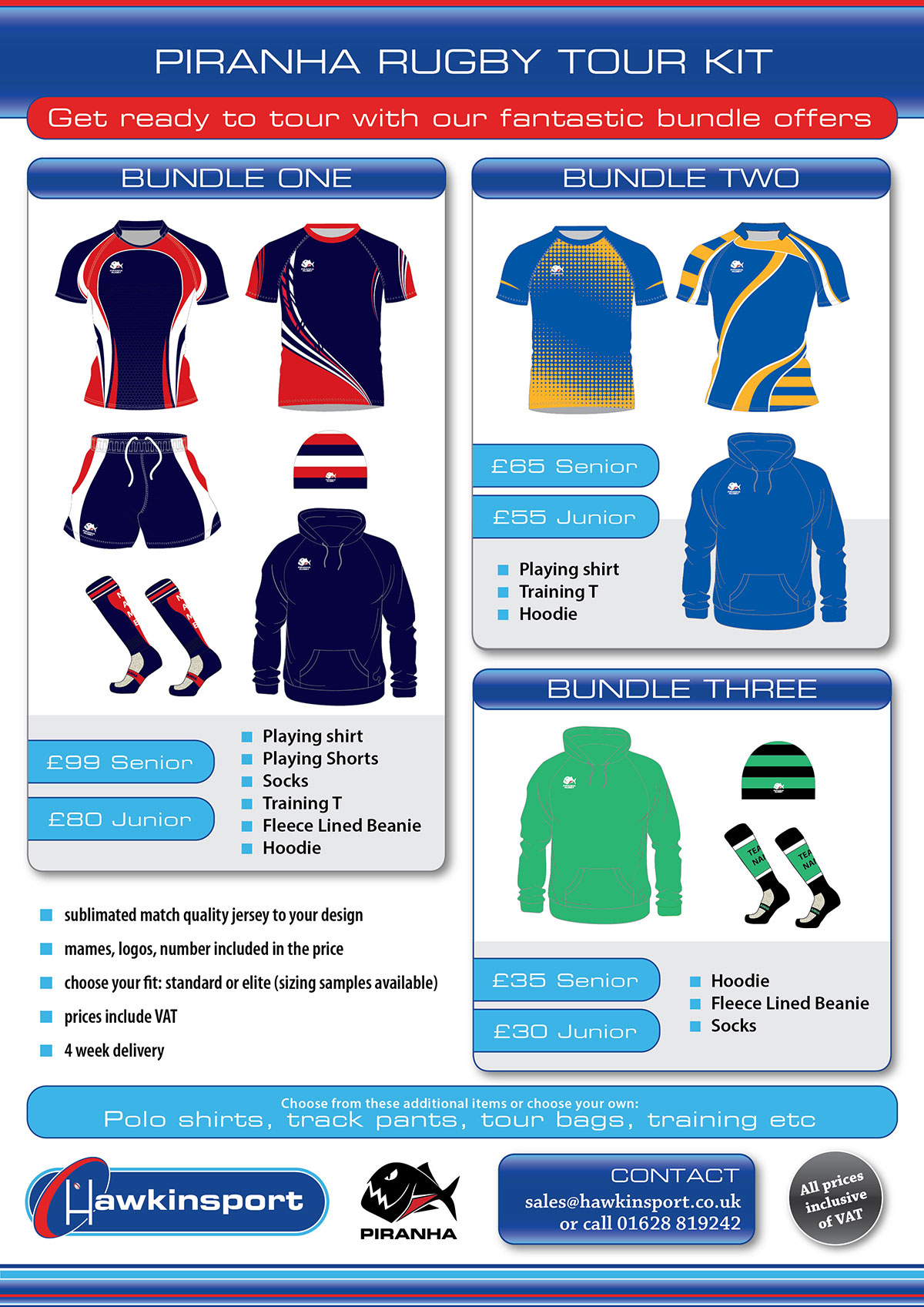Piranha Tour Kit Rugby