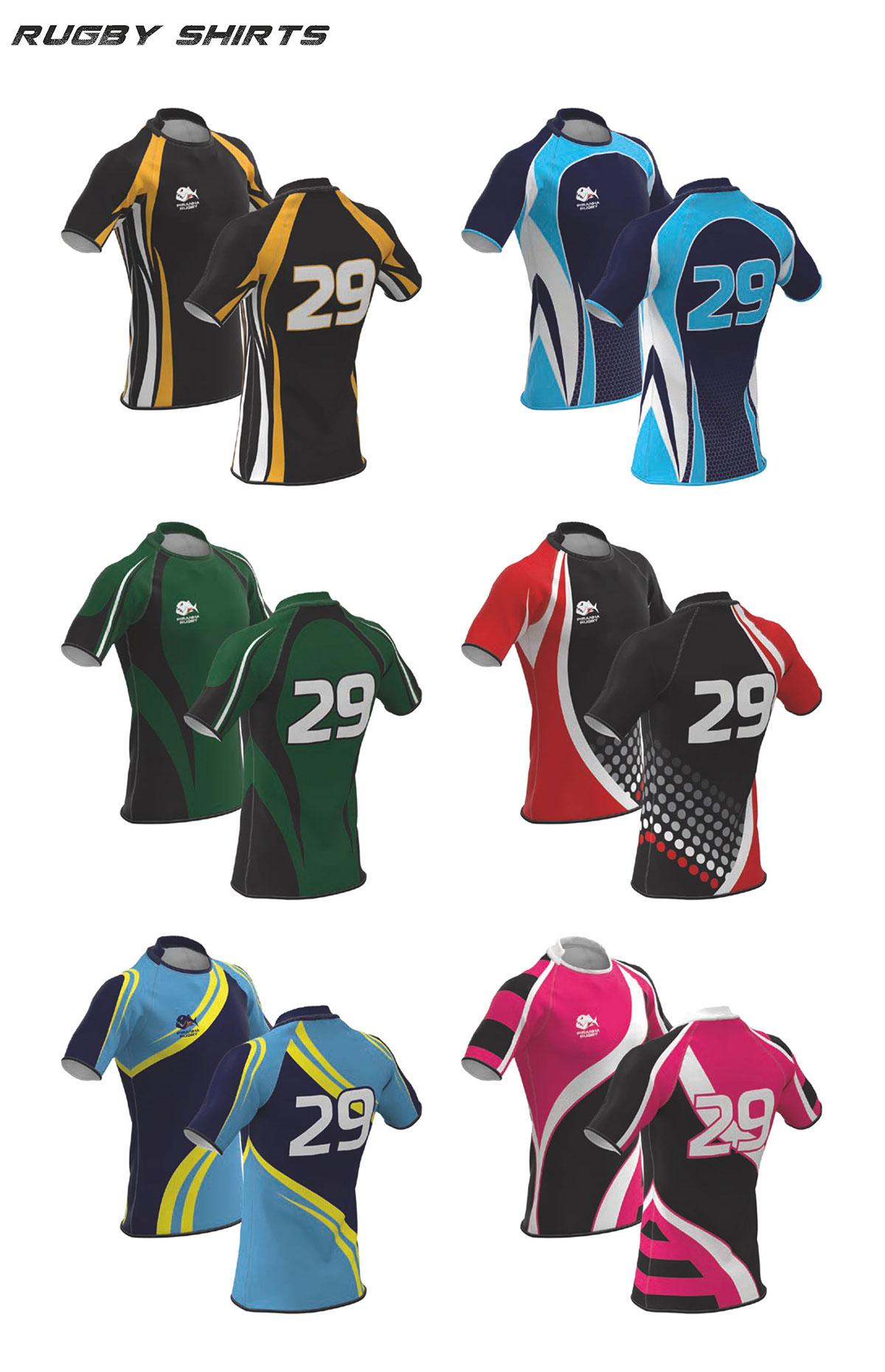 Piranha Rugby Shirts